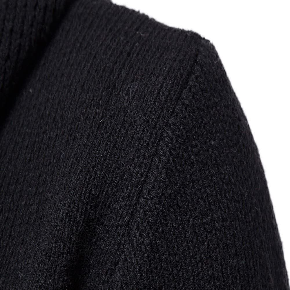 Sweater Cardigan Coat,Mens Slim Fit Hooded Knitting Jacket Plus Size Outwear Fashion
