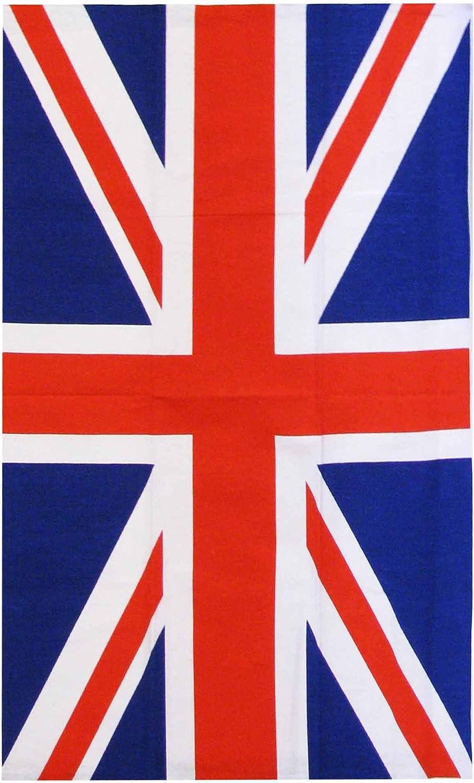 United Kingdom Torchon de Cuisine en Coton Motif Drapeau de lUnion Jack 100/% Coton et Mesure 80 x 48 cm