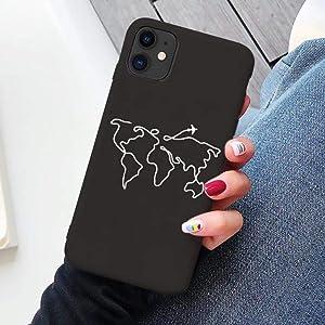WHBDJ Funda para teléfono de Viaje con Mapa del Mundo de Lujo para iPhone XR XS MAX X XS 11 Pro MAX SE 2020 6 6s 7 8 Plus Funda de Silicona Suave TPU para avión, avión 6, para iPhone XR