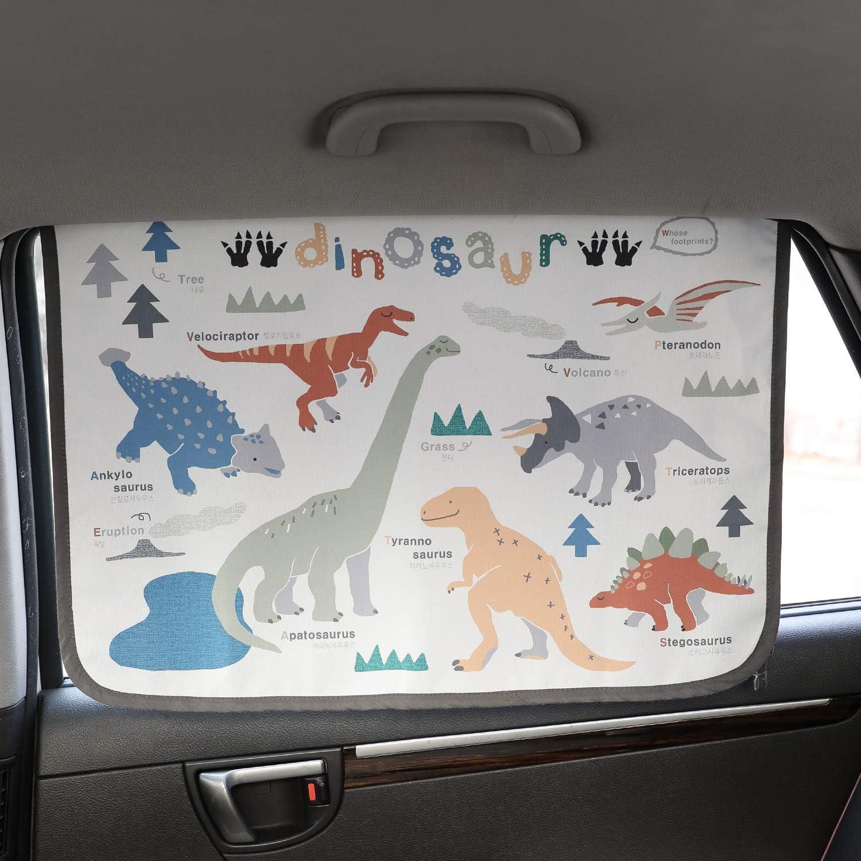 Magnetverschluss Auto Sonnenschutz Vorhang Für Seite Fenster Für Baby Kinder Kinder Sonnenschirm Displayschutzfolie Schützt Vor Sonne Blendung Und Hitze Dinosaur Auto
