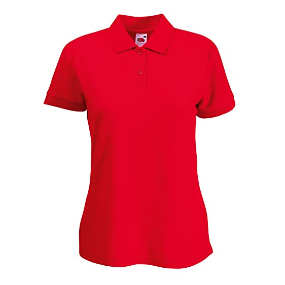 Fruit of the Loom Lady-Fit 65/35 Polo Red XS