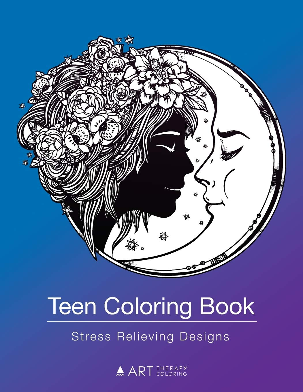 Amazon Com Teen Coloring Book Stress Relieving Designs
