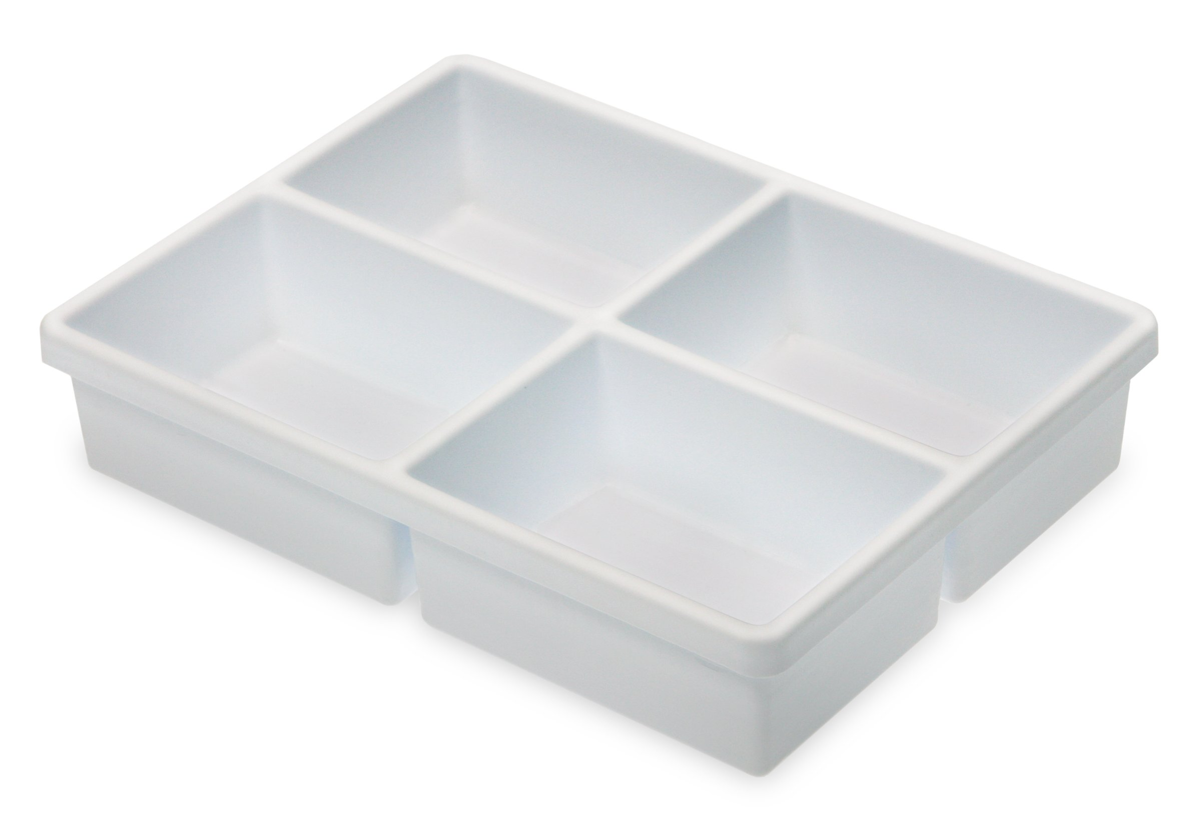 TrippNT 50917 High Impact Styrene 4 Compartment Drawer Organizer, 11-5/8'' Width x 2-3/8'' Height x 15-5/8'' Depth by TrippNT