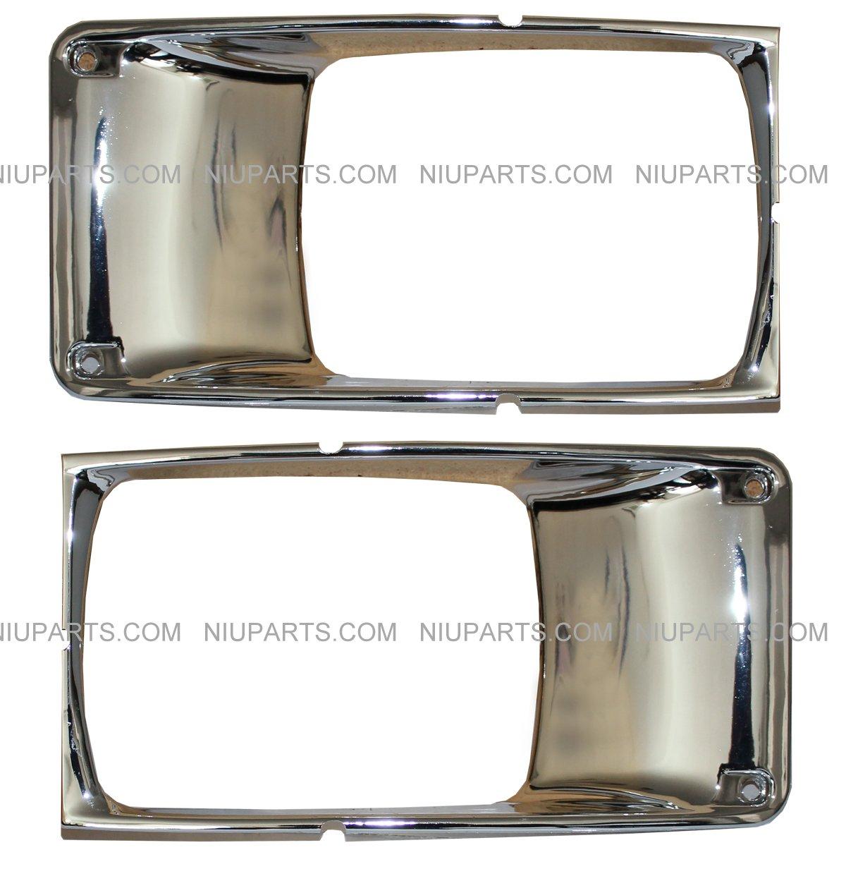 Headlight Bezel 2 Piece (Fit: International Truck 3800 4700 4800 4900) NIUPARTS
