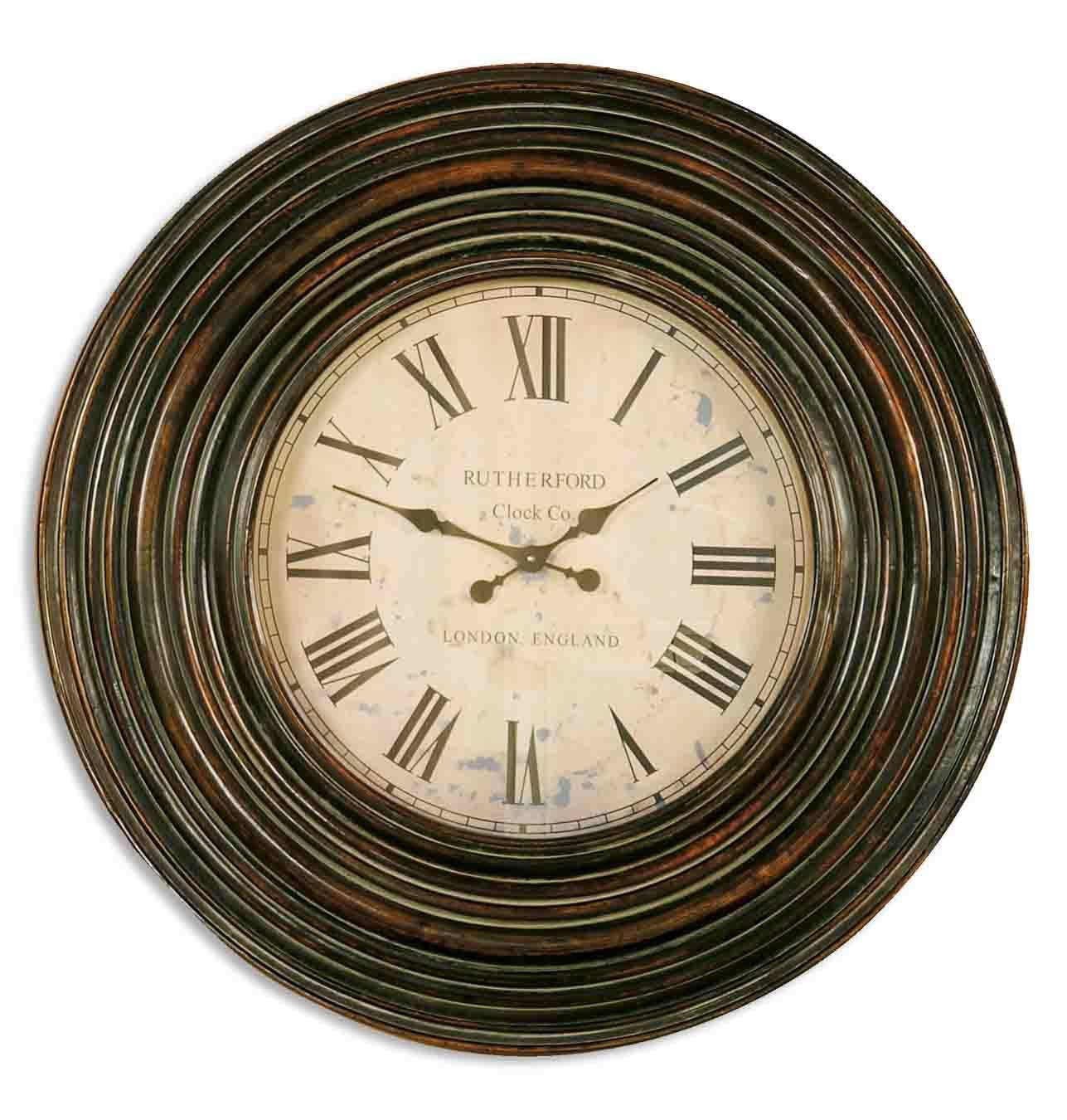 Amazon uttermost trudy 38 wooden wall clock home kitchen amipublicfo Image collections