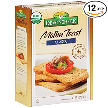 Devonsheer Classic Melba Toast 5 Ounce Boxes Pack Of 12