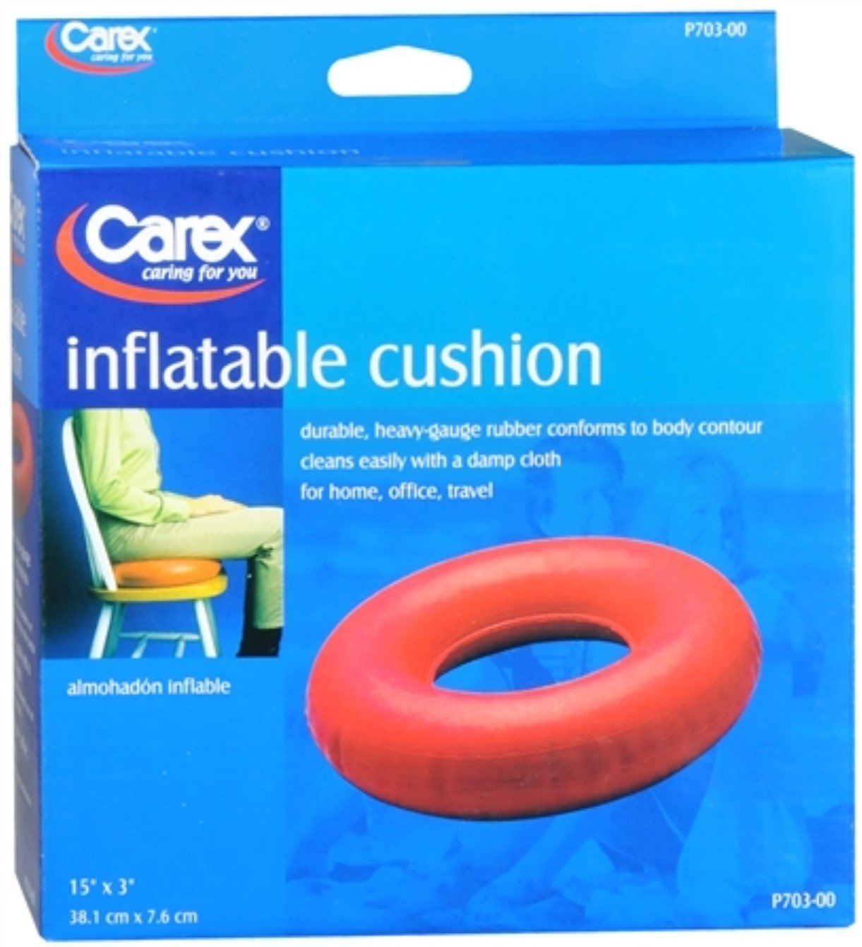 Carex Inflatable Cushion P703-00 1 Each (Pack of 9)
