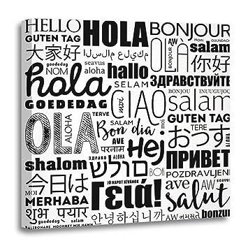 Amazon com: Emvency Canvas Wall Art Print Indian Hello Word