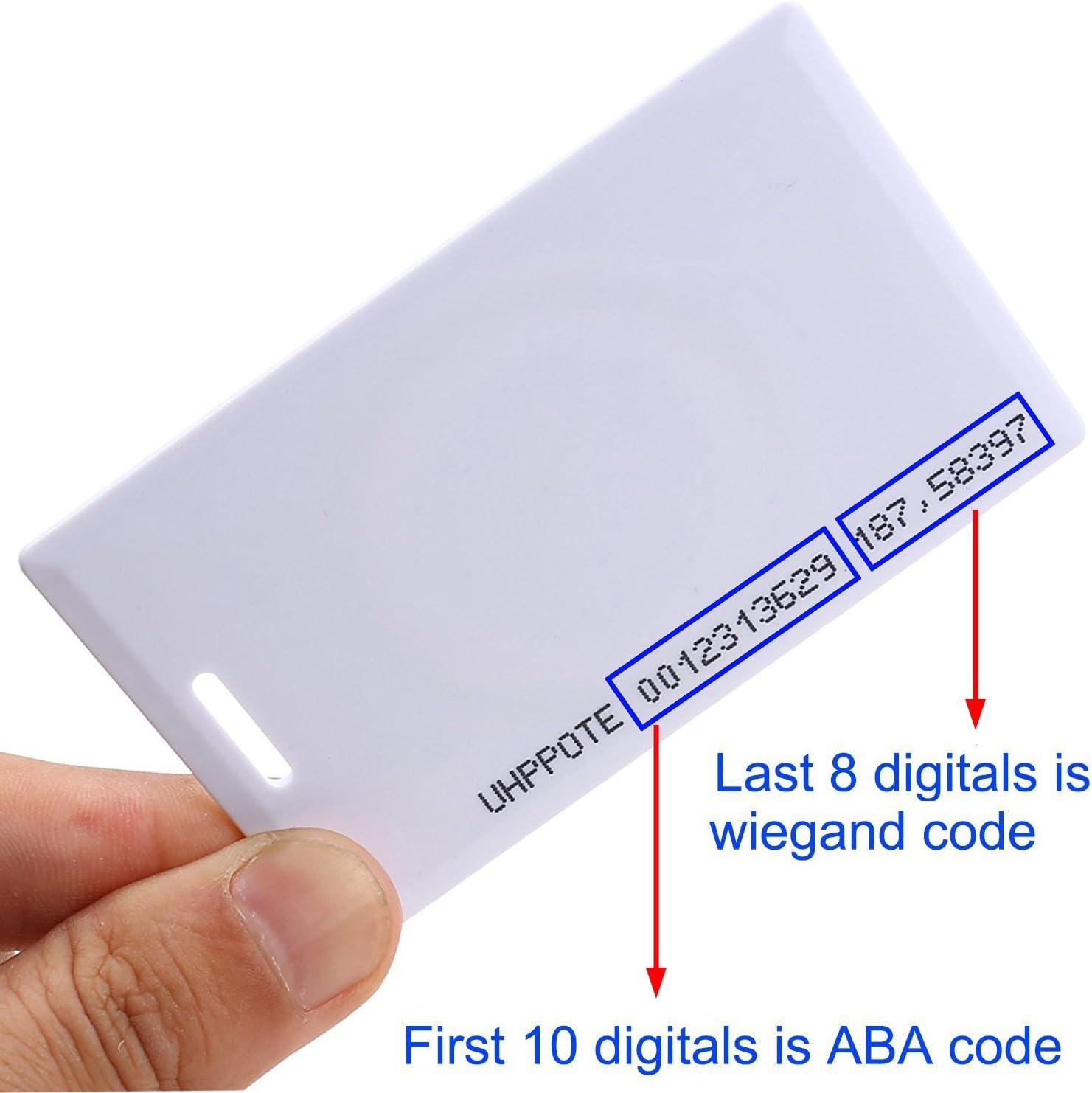 UHPPOTE Sin Contacto 125kHz EM4100 RFID Proximidad ID Peque/ño Tarjeta De Entrada Acceso Espersor 1.8mm 50 Piezas