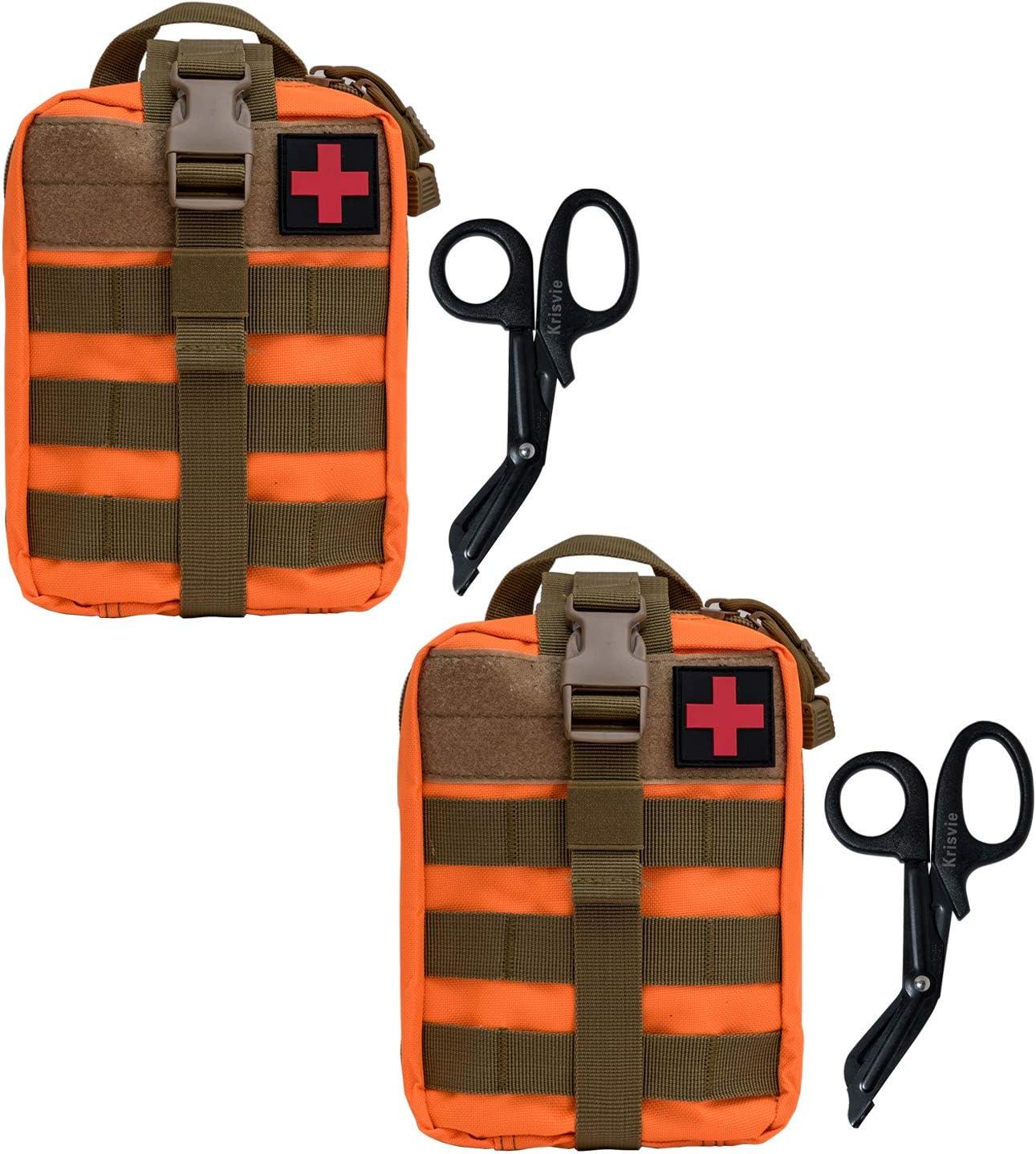 Krisvie 2Pcs M/édica Bolsa Primeros Auxilios Bolsa T/áctica Compacta Botiqu/ín y el Esquileo de los Primeros Auxilios