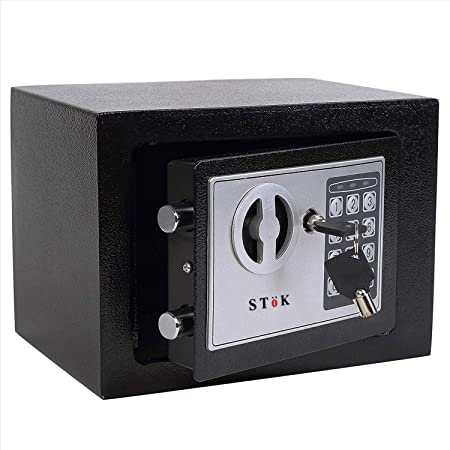 SToK® ST-ES1723 Small Electronic Safe/Safe Locker/Safe Box/Electronic Safe Lockers for Home and Office Size- (23X17X17) cm (Black): Amazon.in: Office Products