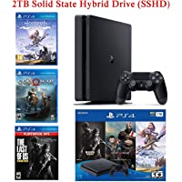 2020 Newest NexiGo Upgraded Playstation 4 PS4 Console Holiday Bundle 2TB SSHD Only on Playstation PS4 Console Slim Bundle-Included 3X Games (The Last of Us, God of War, Horizon Zero Dawn)