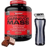 Muscle Meds Mezcla de Proteínas y Aminoácidos Carnivor Mass, Chocolate, 5.7 lb y Cilindro Gratis