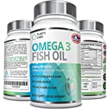 Abundant Health Omega 3 3000mg Fish Oil Pills, 180 Softgels