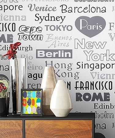 Tapete Vlies Schwarz Weiß Grau Metropole Städte | Schöne Edle Tapete Im  Natürlichen Design | Moderne
