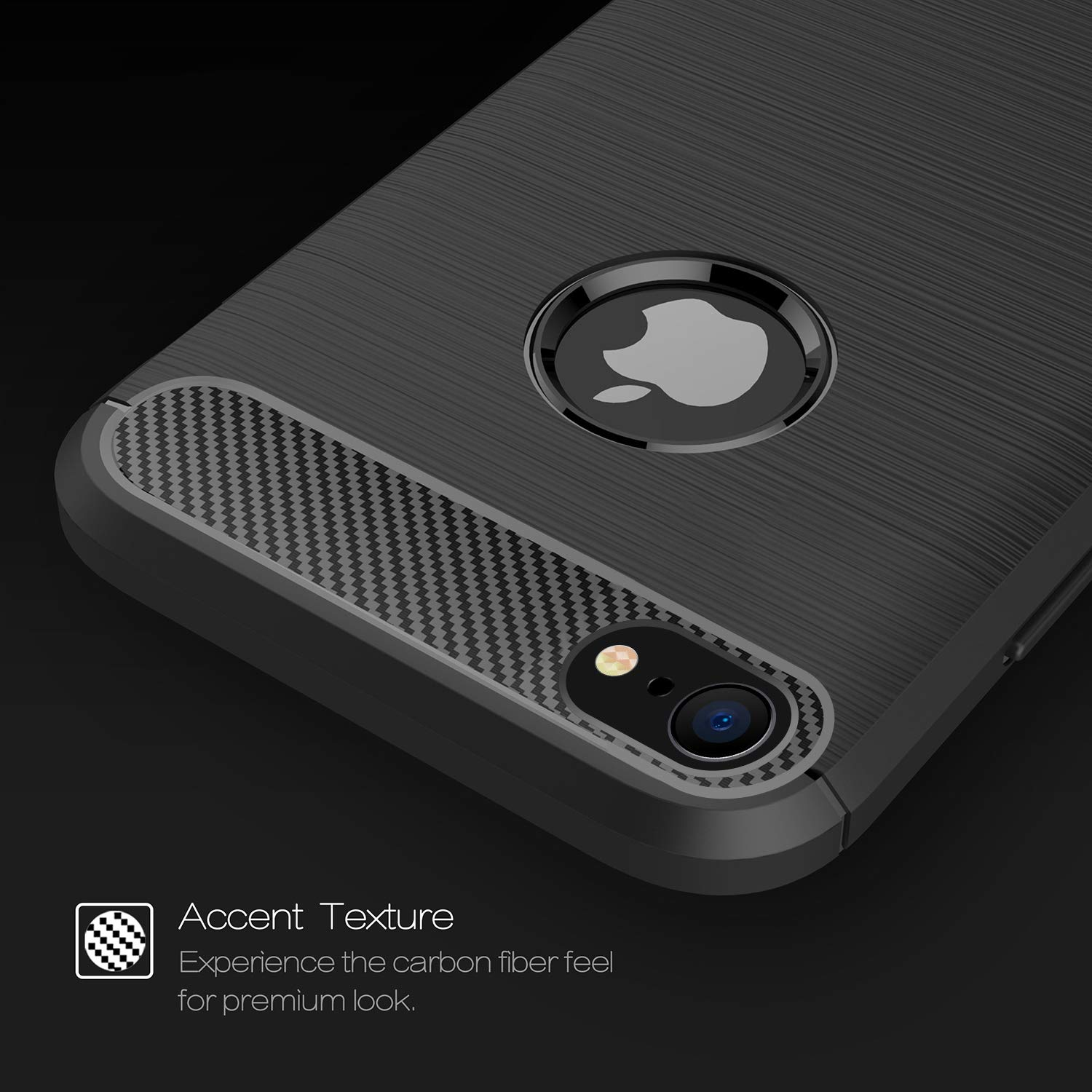 Shockproof Silicone Light Brushed Grip Case Protective Case Cover For Apple iPhone 7 (4.7\