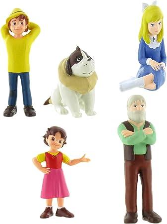 Comansi Lote 5 Figuras Heidi - Pedro Tumbado - Clara - Niebla ...
