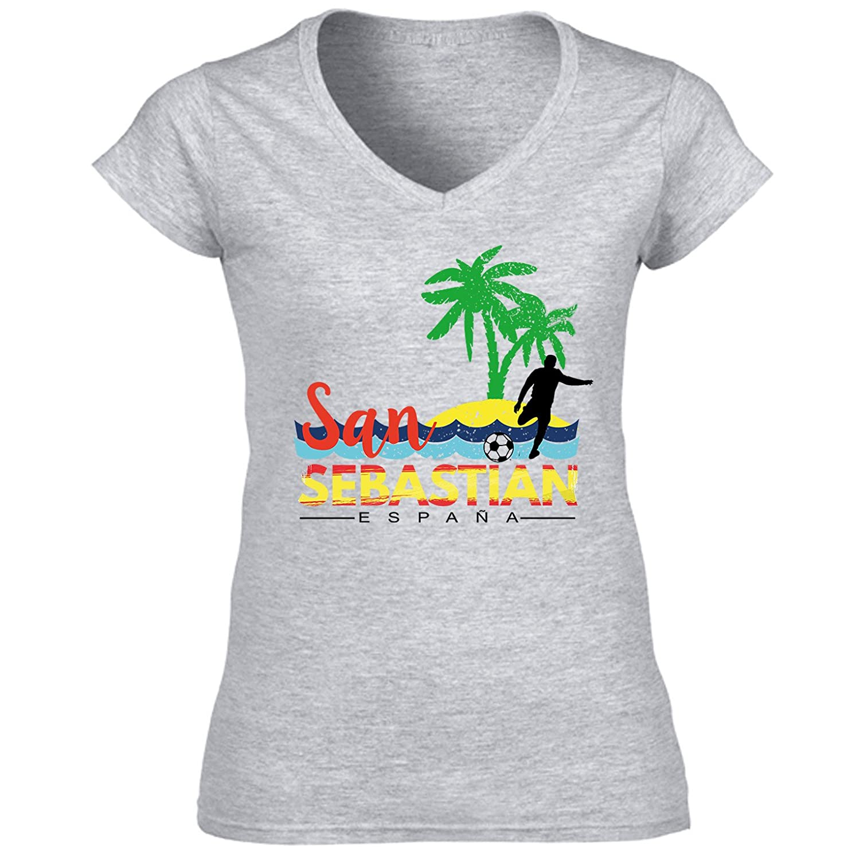 teesquare1st San Sebastian Spain Camiseta para Mujer de ...