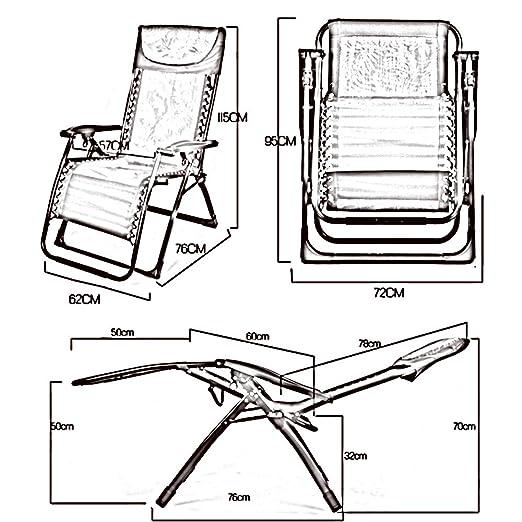 Sillones reclinables Silla Plegable de Verano Almuerzo ...