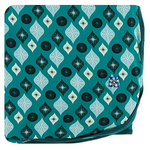 ae9fa4250 Kickee Pants Holiday Throw Blanket - Cedar Vintage Ornaments, One Size