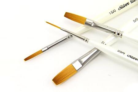 Silver Brush UMS-2450S Ultra Mini Lettering Short Handle Brush Set ...