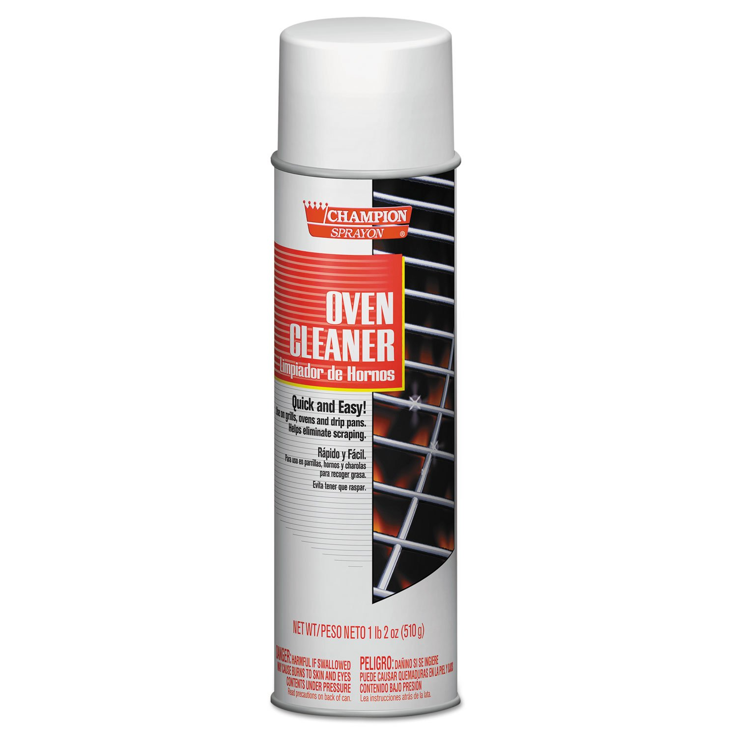 Chase Products Champion Sprayon Oven Cleaner, 18oz, Aerosol, 12/Carton, New