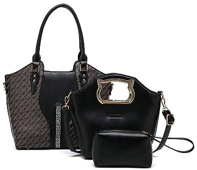 Women's Bags 2019 Fashion Women Four Set Handbag Shoulder Bags Ladies Fashion Leather Messenger Bag Cheap Four Pieces Tote Bag Crossbody Wallet Purse High Resilience