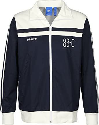 cheapest price best sale new images of Adidas Trainingjkt 83 C Tracktop Navy Be