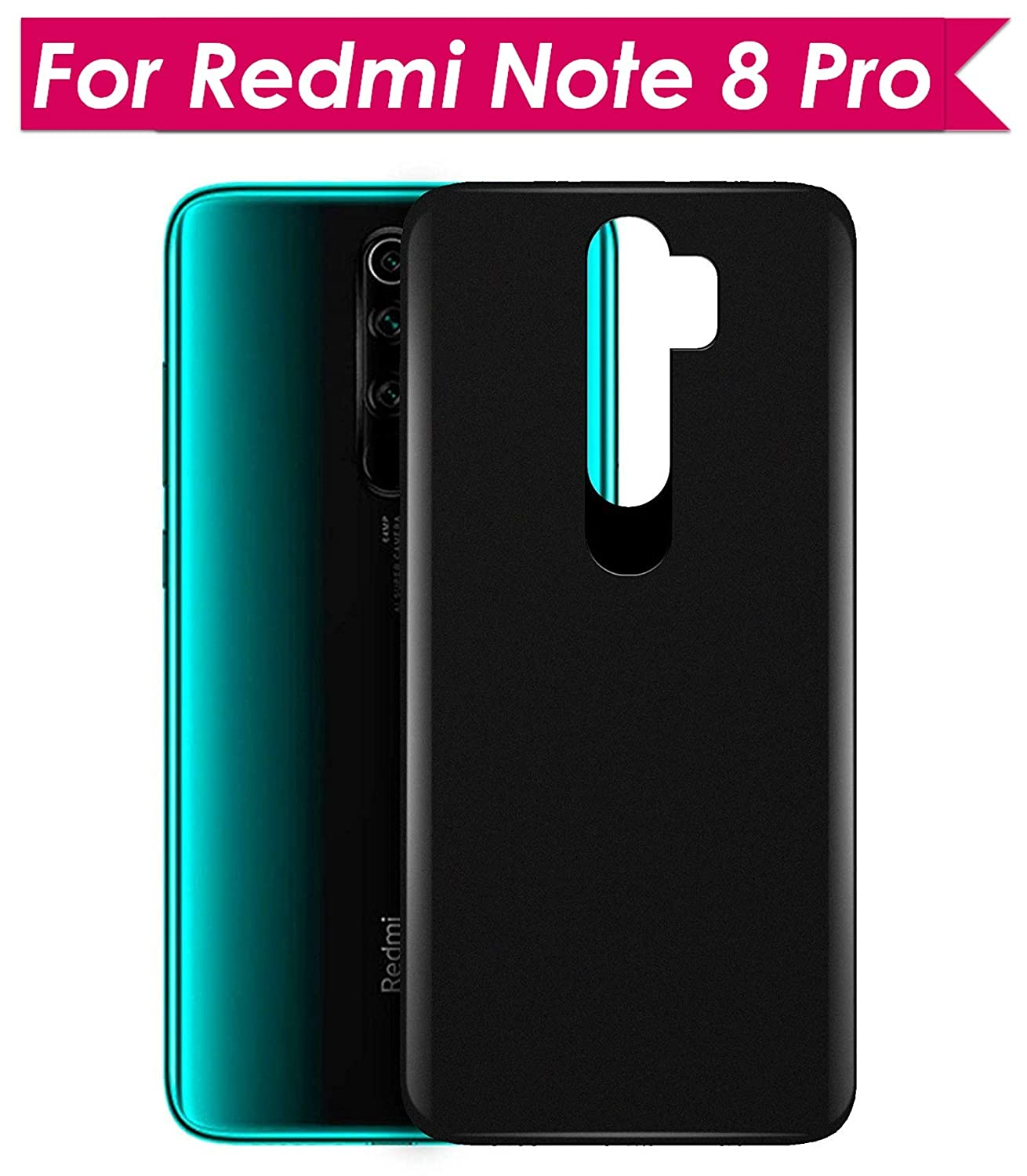 """WOW Imagine Ultra Slim Flexible Back Cover Case for Redmi Note 8 Pro