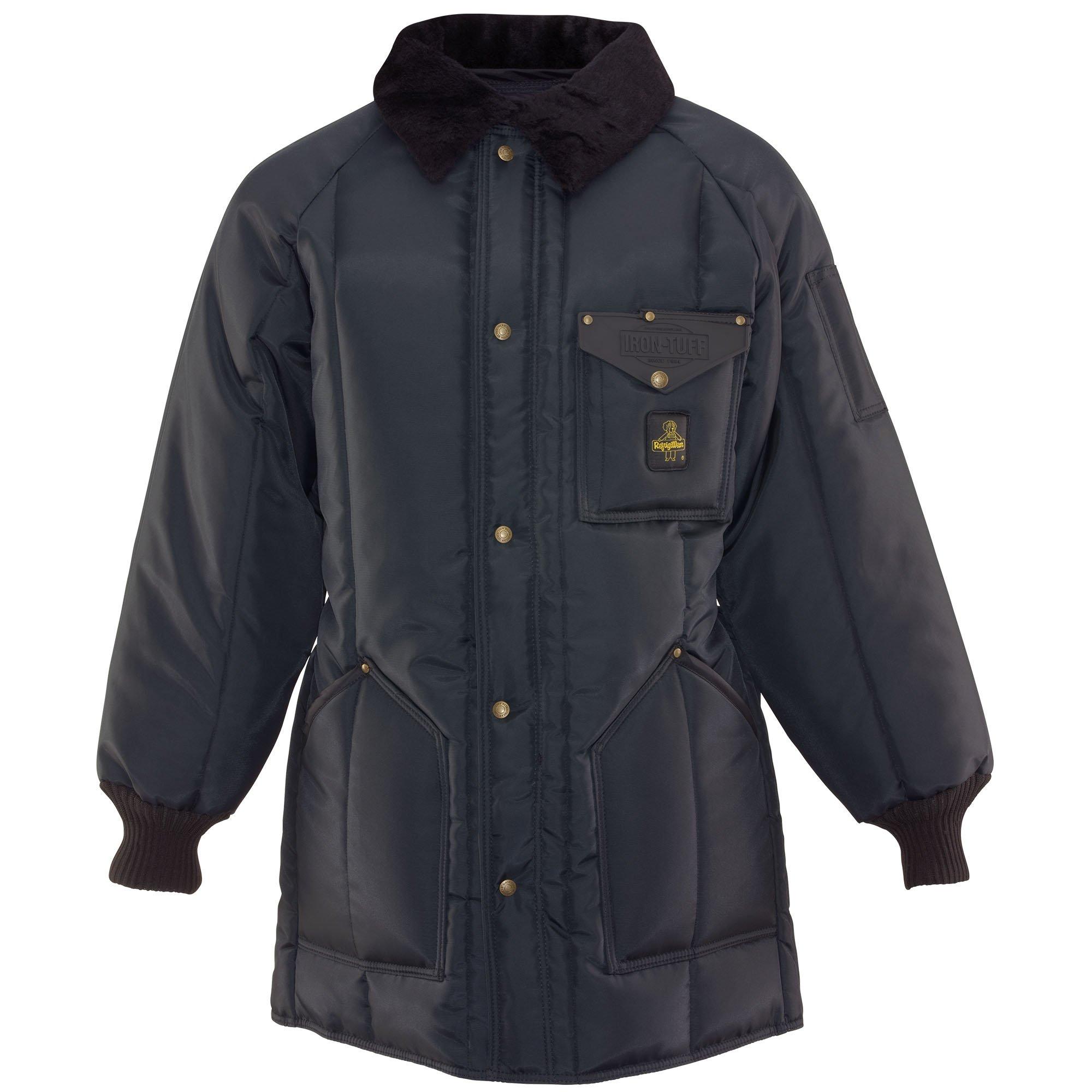 RefrigiWear Men's Winterseal Deep Freeze Work Jacket, Navy 4XL