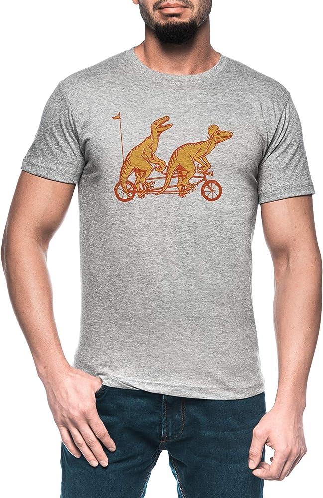 Ciclismo Rapaces En Tándem Bicicleta Hombre Gris Camiseta Manga ...