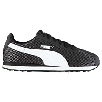 4d17cf382570 Puma Turin Mesh Trainers Mens Black White Athletic Sneakers Shoes (UK7)  (EU40