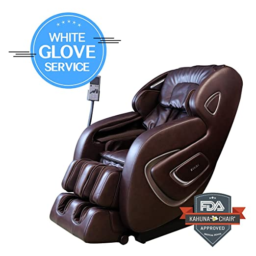 AIR FLOAT 3D+ 6 INFRARED ROLLER MECHANISM KAHUNA SUPERIOR MASSAGE CHAIR - SM-9000 Comb (Brown WG)