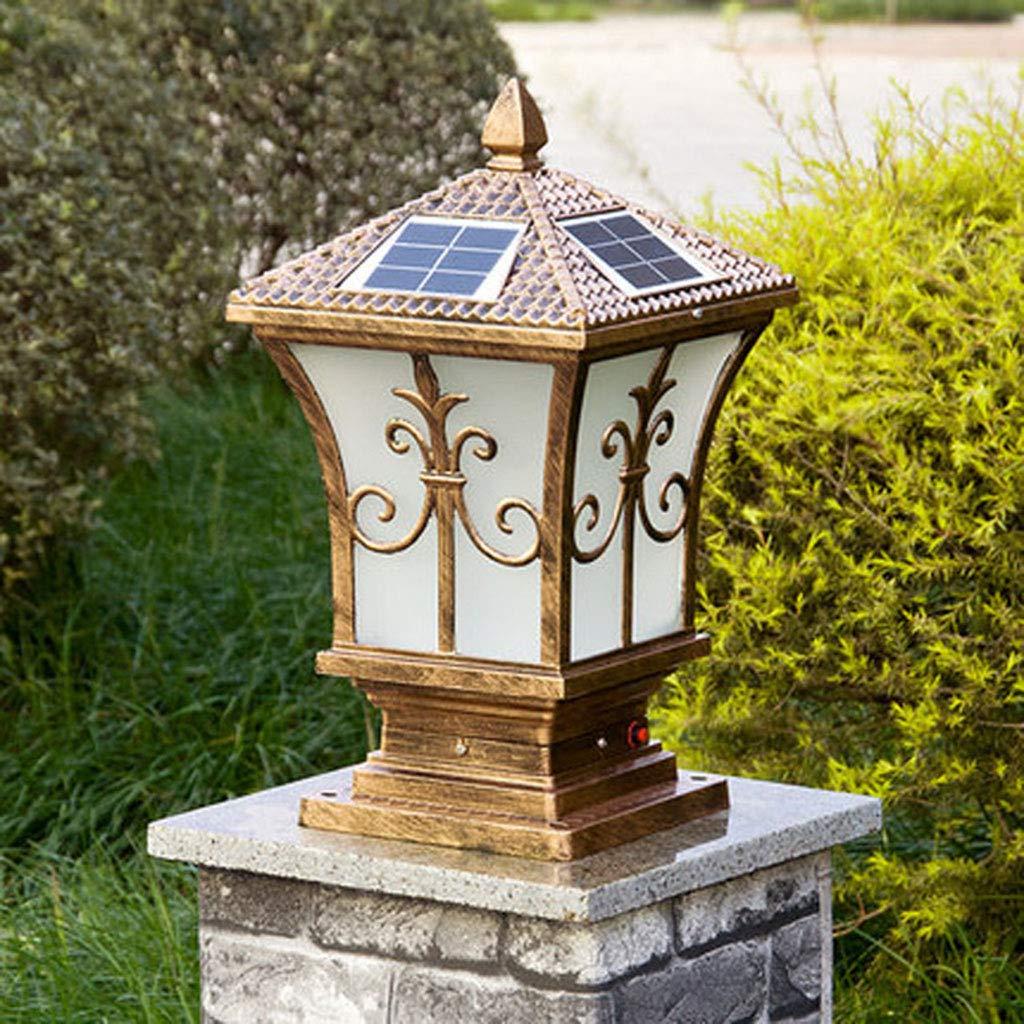 Amazon Com Solar Landscape Pillar Light Foco Exterior Lamp