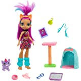 Cave Club Purr-FECT Pet Adventure Playset with Roaralai Doll (8 – 10-inch, Purple Hair), Pet, Cat Condo and Storytelling Piec