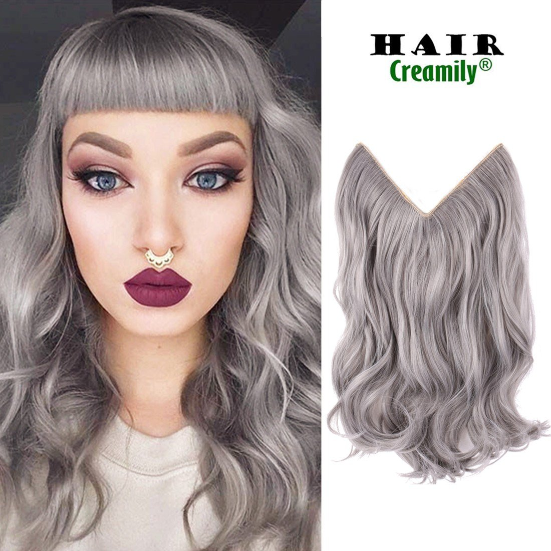 Amazon Creamily 20 Silver Gray Secret Miracle Wire Hair