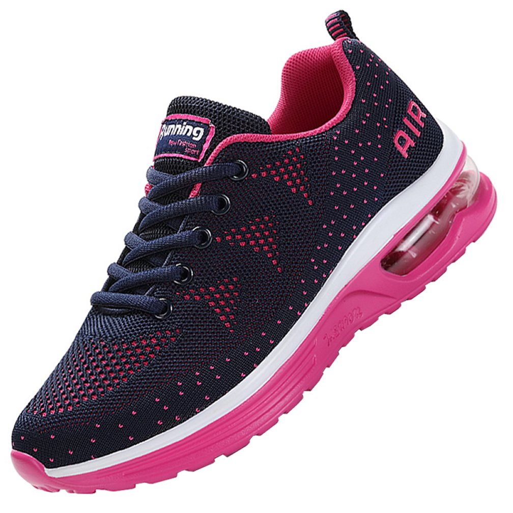 MEHOTO Womens Fashion Lightweight Tennis Walking Shoes Sport Air Fitness Gym Jogging Running Sneakers Violet 6 B(M) US
