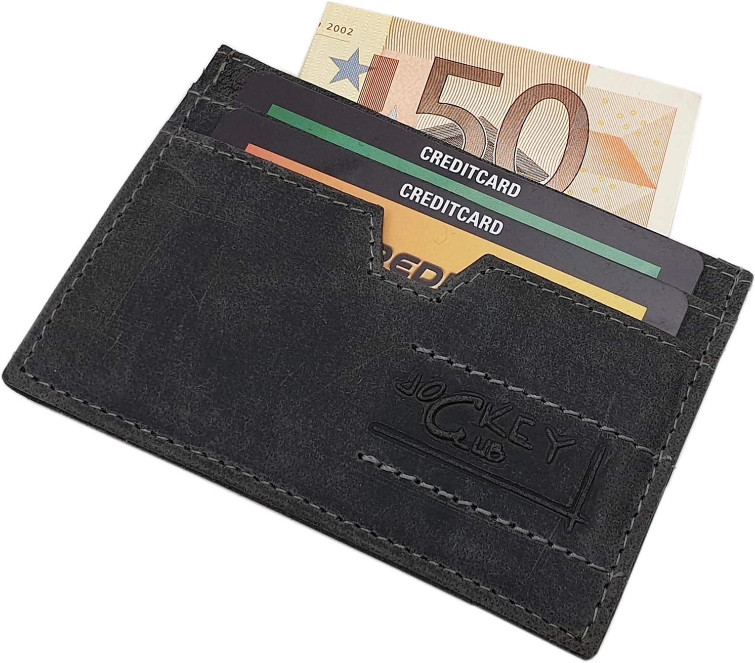 Cuir de Buffle Motard Porte-Monnaie avec cha/îne en m/étal et Amovible Porte-Cartes avec Moto Motif avec Blocage RFID et NFC Gris