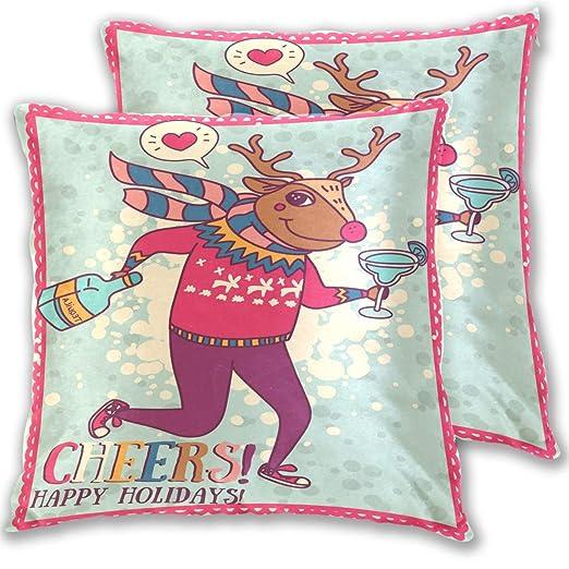 Funda de almohada navideña, diseño de flamenco de invierno ...