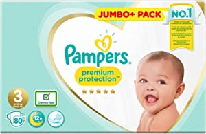 Pampers Premium Protection Nappies White Size 3 80 pcs