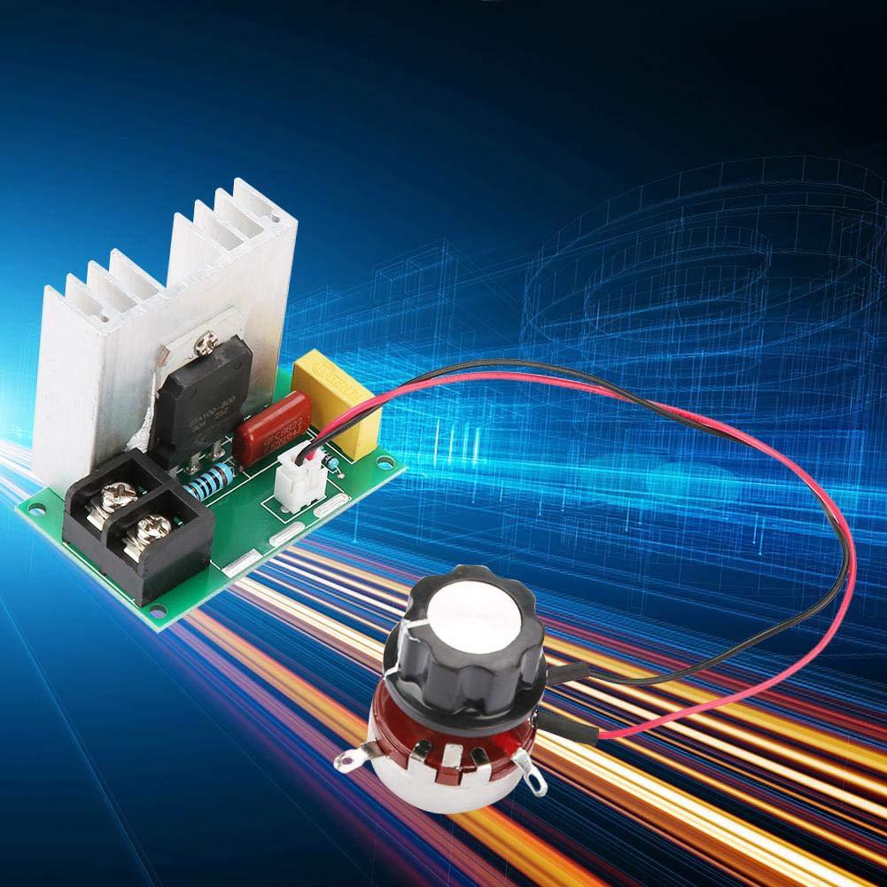 AC 220V 8000W SCR Regolatore di Tensione Elettrica del Modulo di Bordo Stabilizzatore di Tensione di Uscita Interruttore di Trasformatore Temperatura//Regolatore di Velocit/à del Motore Dimmer