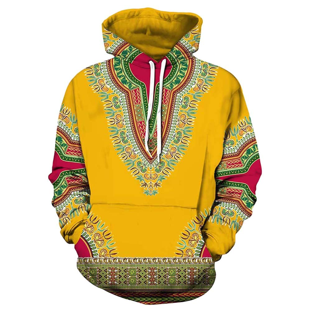 Close-dole 2019 Men Blouse Long Sleeve Lovers Autumn Winter African 3D Print Long Sleeve Dashiki Hoodies Sweatshirt Top