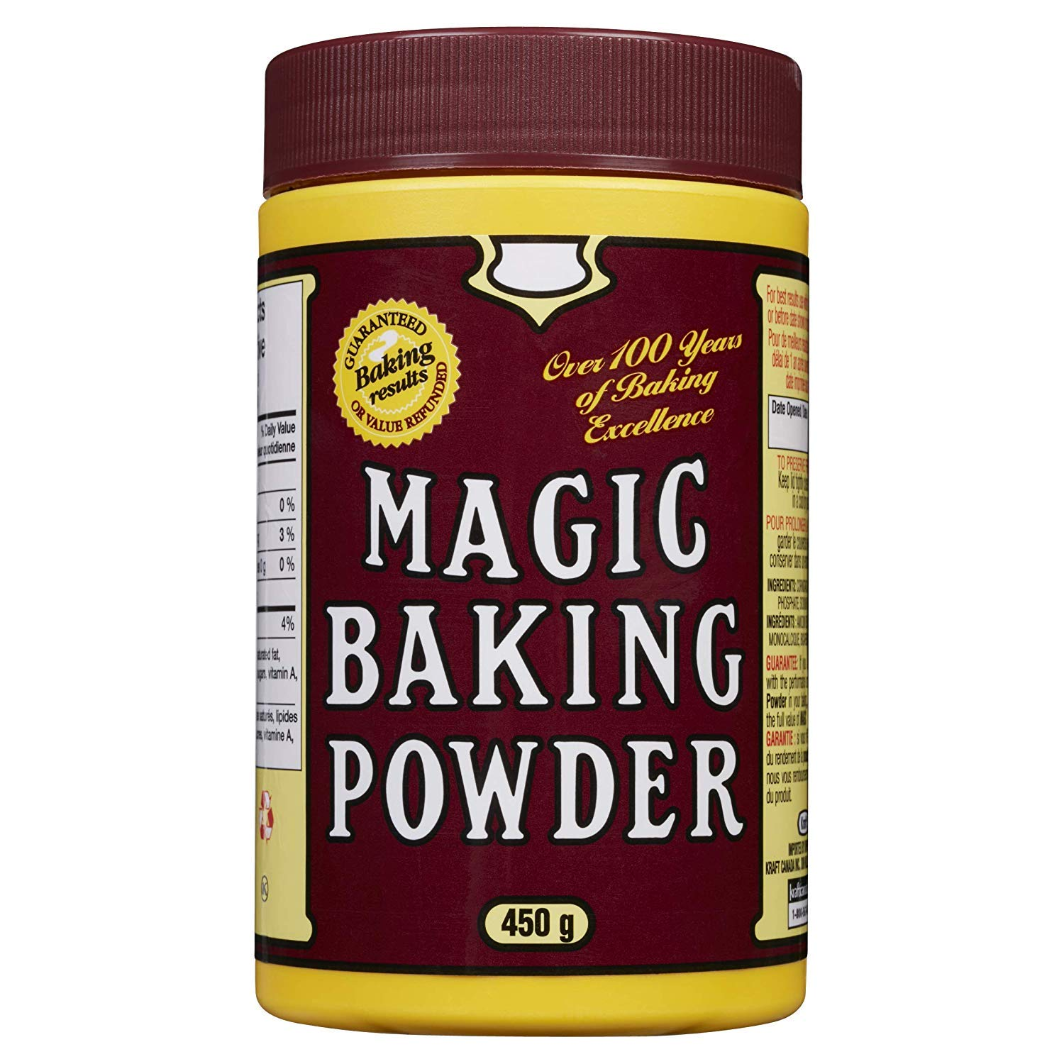 MAGIC Magic Baking Powder, 450g/15.9oz. Tin, 24ct, (Imported from Canada)