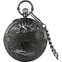 ZMKW Movimiento Musical Reloj de Bolsillo Manivela de Mano de Cuarzo Reproducir música Reloj Cadena Reloj Colgante Feliz…