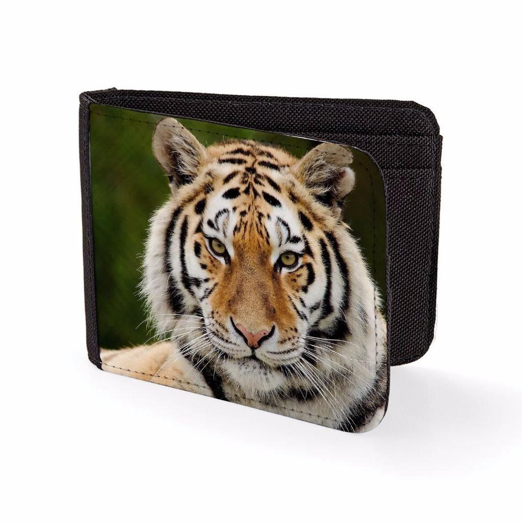Printed Mens Wallet & Card Holder Tiger Face Mens Travel Wallets