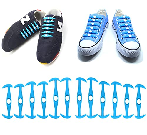 fe1112b4fa76f UCLEVER 12 Piezas sin corbata Cordones de zapatos para niños y adultos  cordones de zapatos de