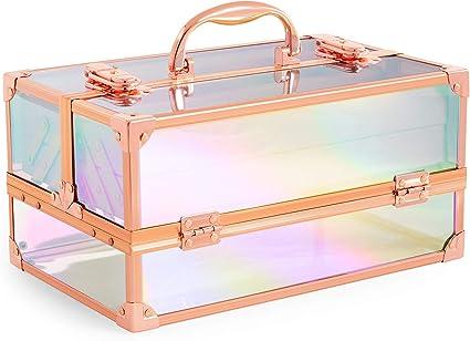 Beautify Estuche de Belleza Holográfico Iridiscente Vanidad Maquillaje Organizador Estilo Regalo: Amazon.es: Belleza