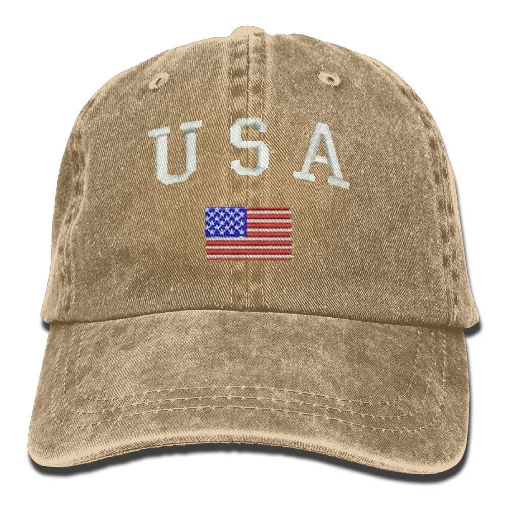 HU MOVR Cowboy Hat American Flag and USA Adult Adjustable