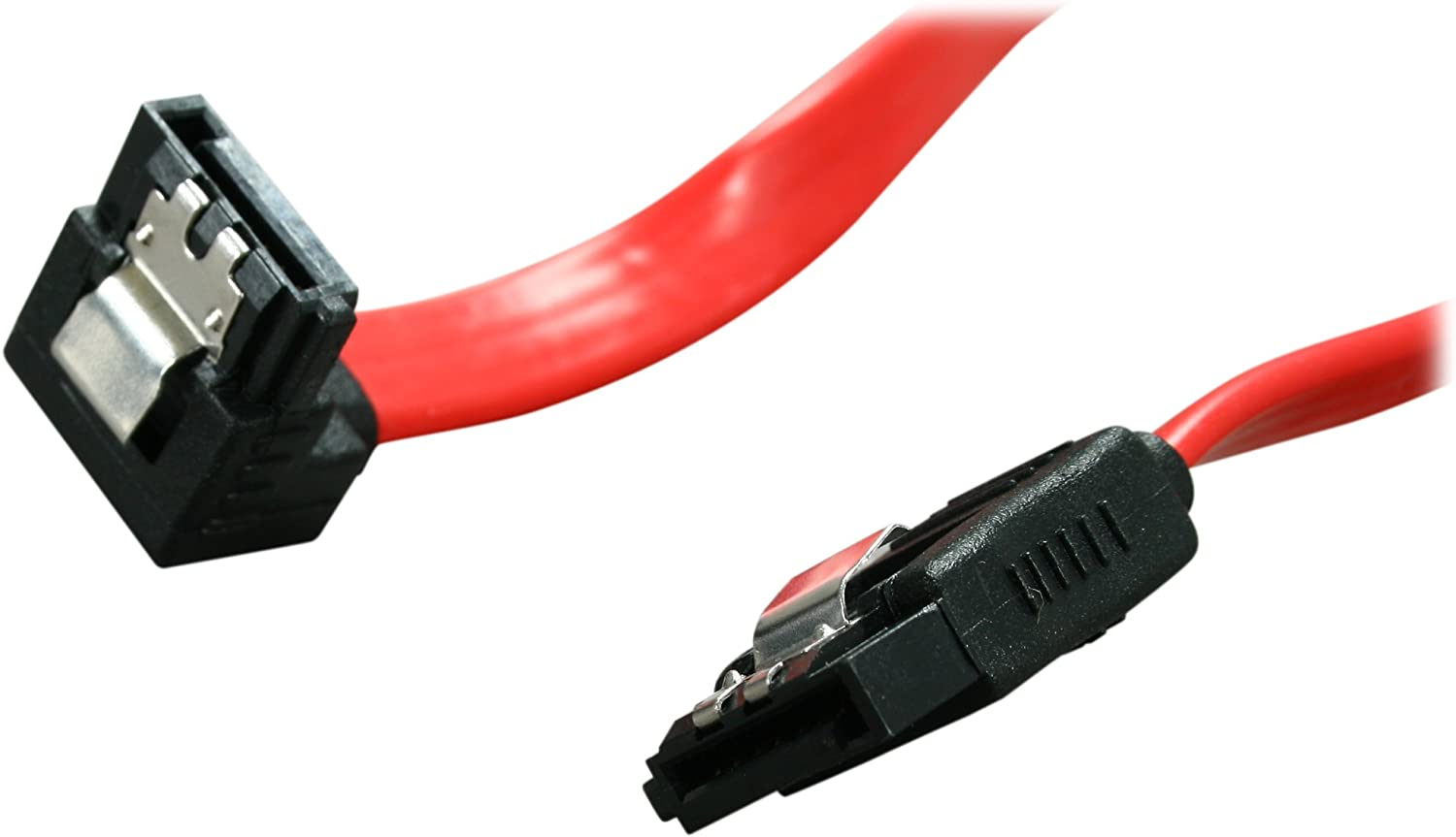Rosewill SATA Cable 90 Degree Right Angle SATA III 6.0 Gbps, SATA Cable 12 Inches, SATA 3 Cable - 12 Inches, Red