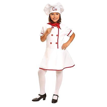 My Other Me Me-200954 Disfraz de cocinera para niña, 7-9 años (Viving Costumes 200954